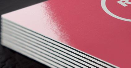 Duplex glossy business cards