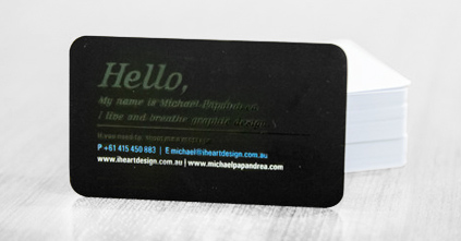 Rounded corner business cards order online today discount printing add a bit of creative flair to your networking with the help of discount printings super stylish rounded corner business card designs reheart Images