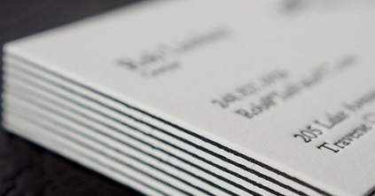 Duplex business cards