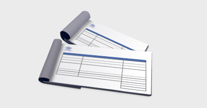 Personalised Receipt Books Printing Customised With Your Logo - Receipt books with company logo